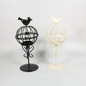 Metal Bird Cage Candle Holder - (2 Colors Available)
