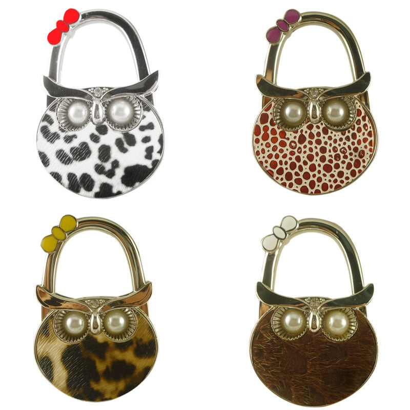 Cute Owl Hanger Foldable Bag Hook Handbag Holder or Table Hook