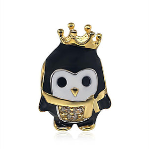 1fd3638f0 925 Silver Bracelet Charm - Penguin with Golden Crown and Scarf - (Fits  Pandora Charms