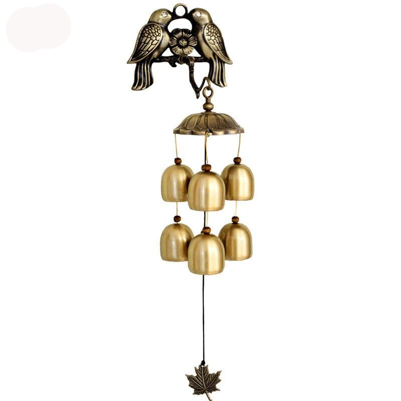 Wind Chimes - Antique Bronzed Bird Wind Chimes