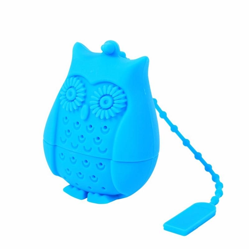 Silicone Owl Tea Strainer - Blue