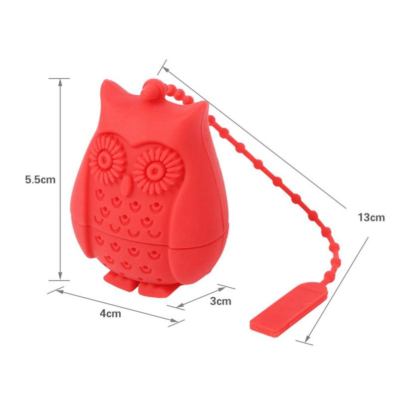 Silicone Owl Tea Strainer - Green