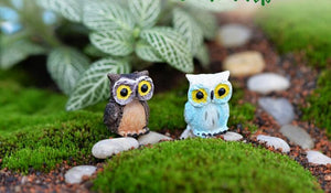 Miniature Fairy Garden Owl Decorations