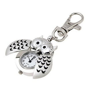 Keychain - Mini Metal Key Ring Owl Quartz Watch