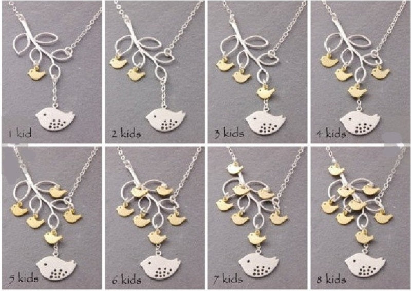 Necklace - Mama and Her Baby Birds Necklace/Pendant