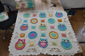Blanket - Crocheted Vintage Owl