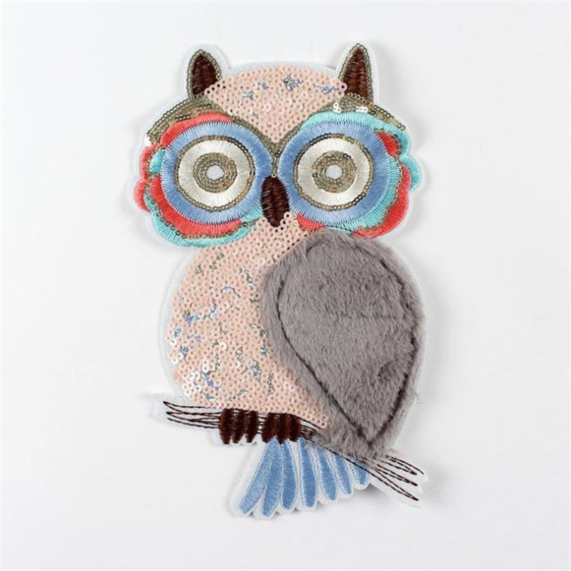 DIY Embroidered 3D Owl Sew On Patch