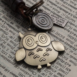 Key Chain - Alloy Bronze Owl Key Ring