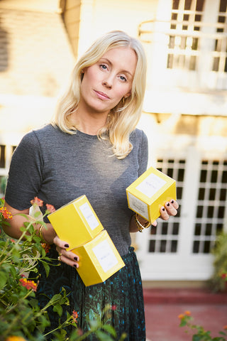 Jennie Hammar with her Candles at home