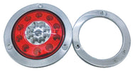 Truck/ Trailer Lamps Stop + Indicator Lamp Combination 9V-30V with Steel Flange