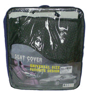 Car Seat Cover Set 6 Pcs Black and Grey Dots Universal