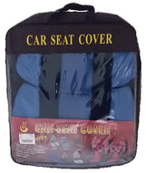 Car Seat Cover Set 11Pcs With Cushion Blue /Black
