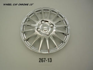 Wheel Cap Set of 4 Chrome Finish Thin Spoke 13Inch