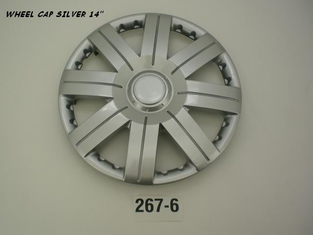 Wheel Cap Set of 4 Silver Joint Spoke 14 Inch