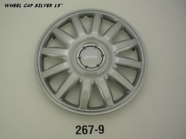 Wheel Cap Set of 4 Silver Multi Spoke 13Inch