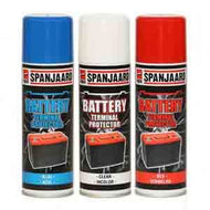 Spanjaard Battery Terminal Protector Blue for Negative Terminal
