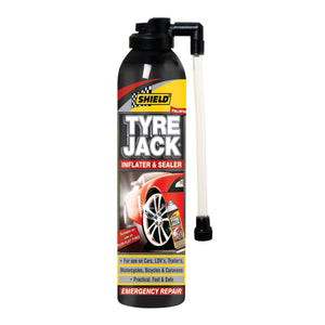 Shield Tyre Jack Emergency Tyre Inflator and Sealer 340ml