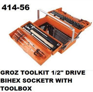 Groz ToolBox/Toolkit Complete with 1/2 Inch Drive Sockets 5Tray