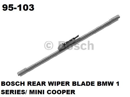 Bosch Wiper Blade Rear  BMW 1 Series / Mini Cooper