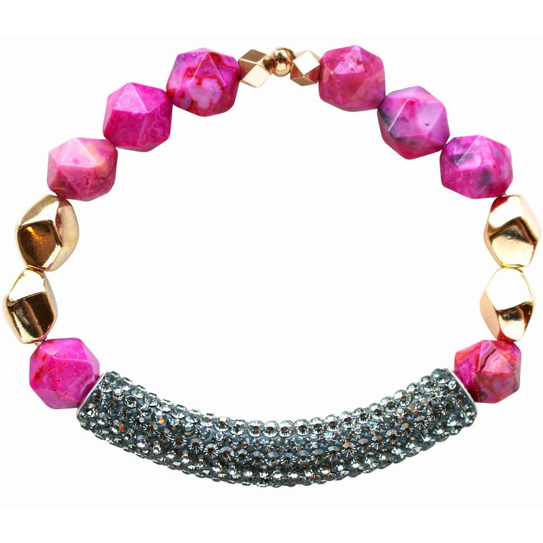 Paradise Bracelet in Pink Agate