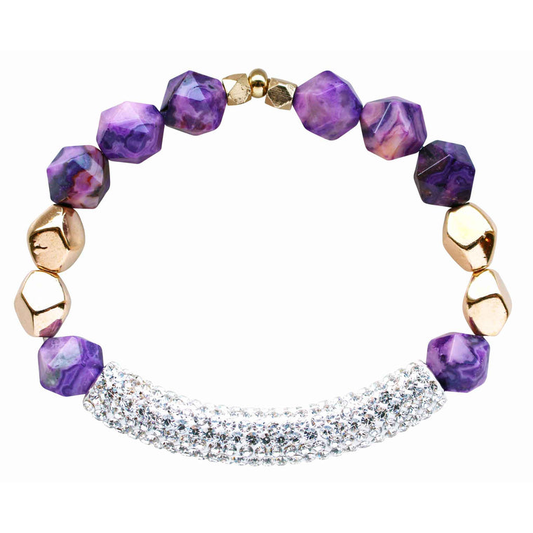 Paradise Bracelet in Purple Agate