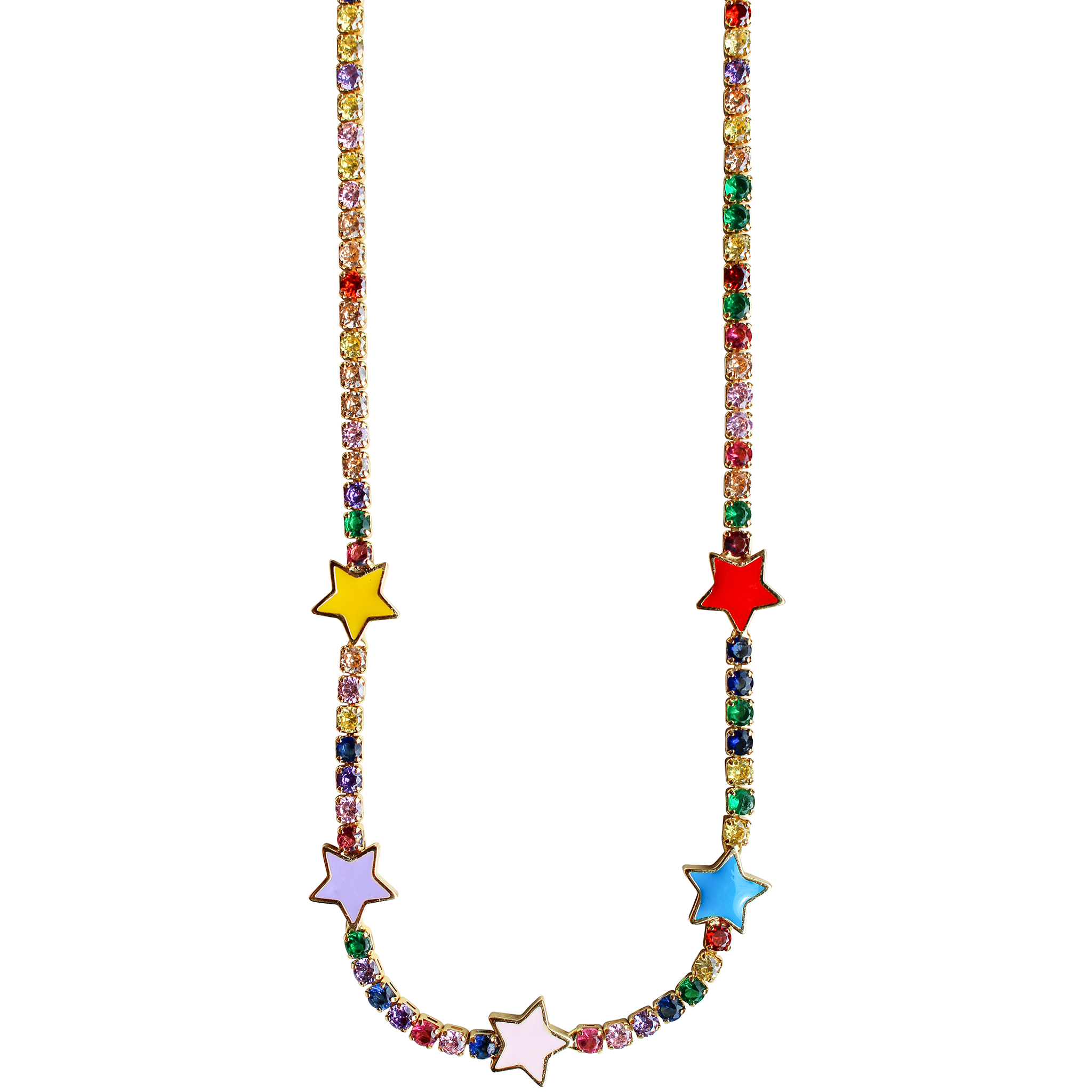 Pop Necklace in Rainbow Star