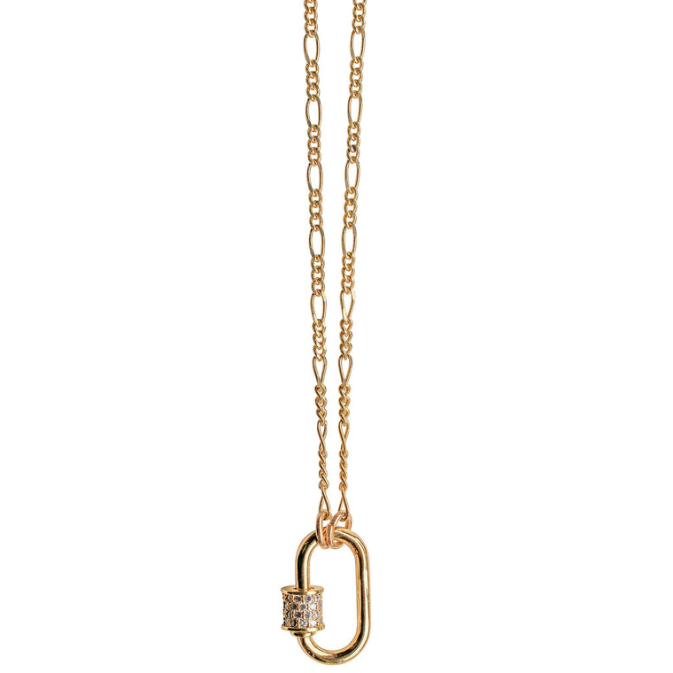Mini Lock Necklace in Gold