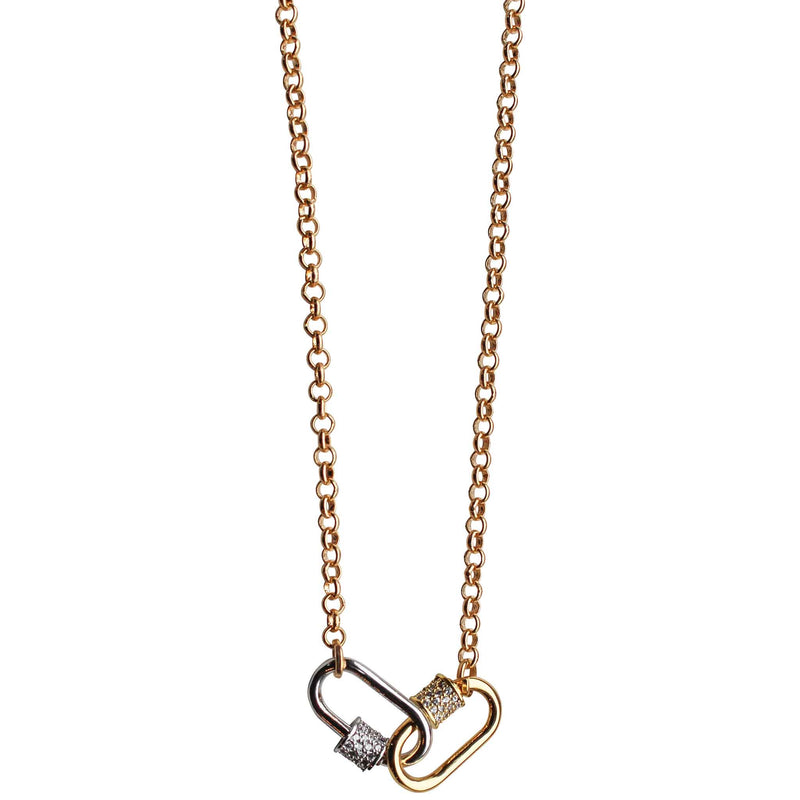 Double Mini Lock Necklace