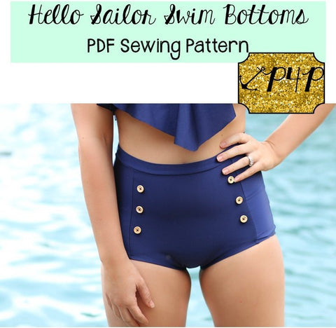Patterns for Pirates Hello Sailor Swim Bottoms