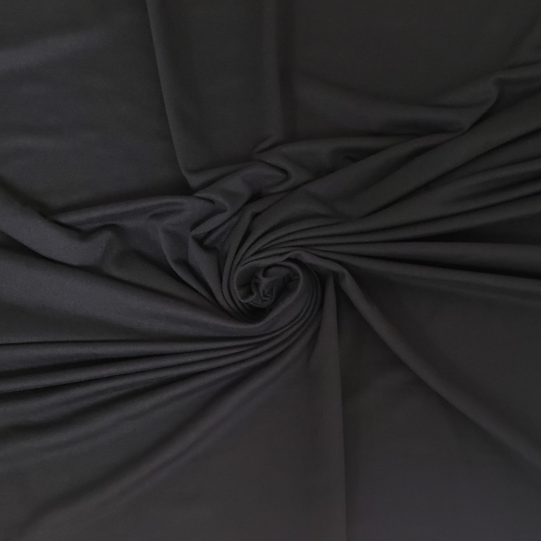 Heavy Double Brushed Poly Solid - Black
