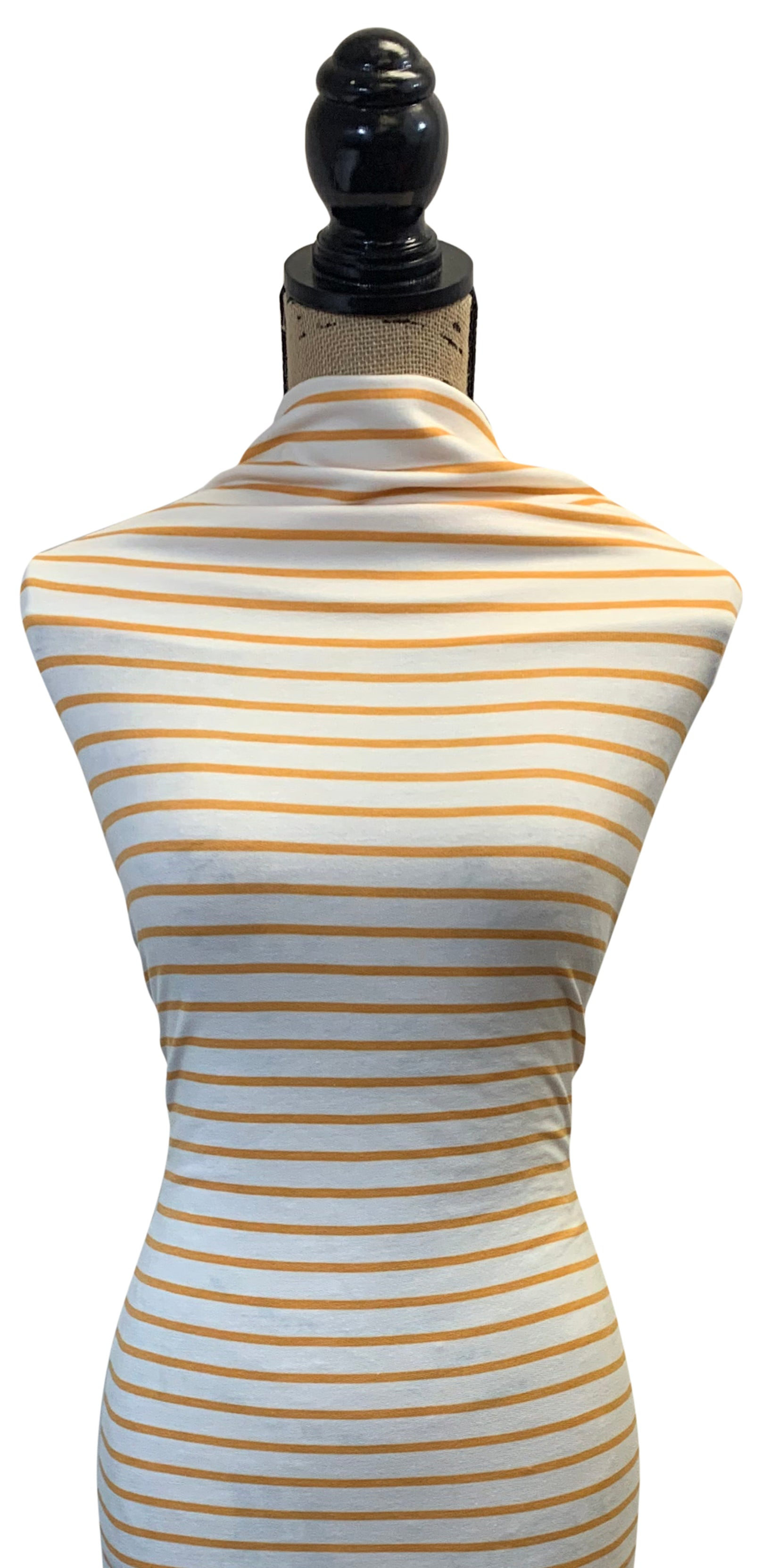 French Terry Horizontal Stripes - Sunflower