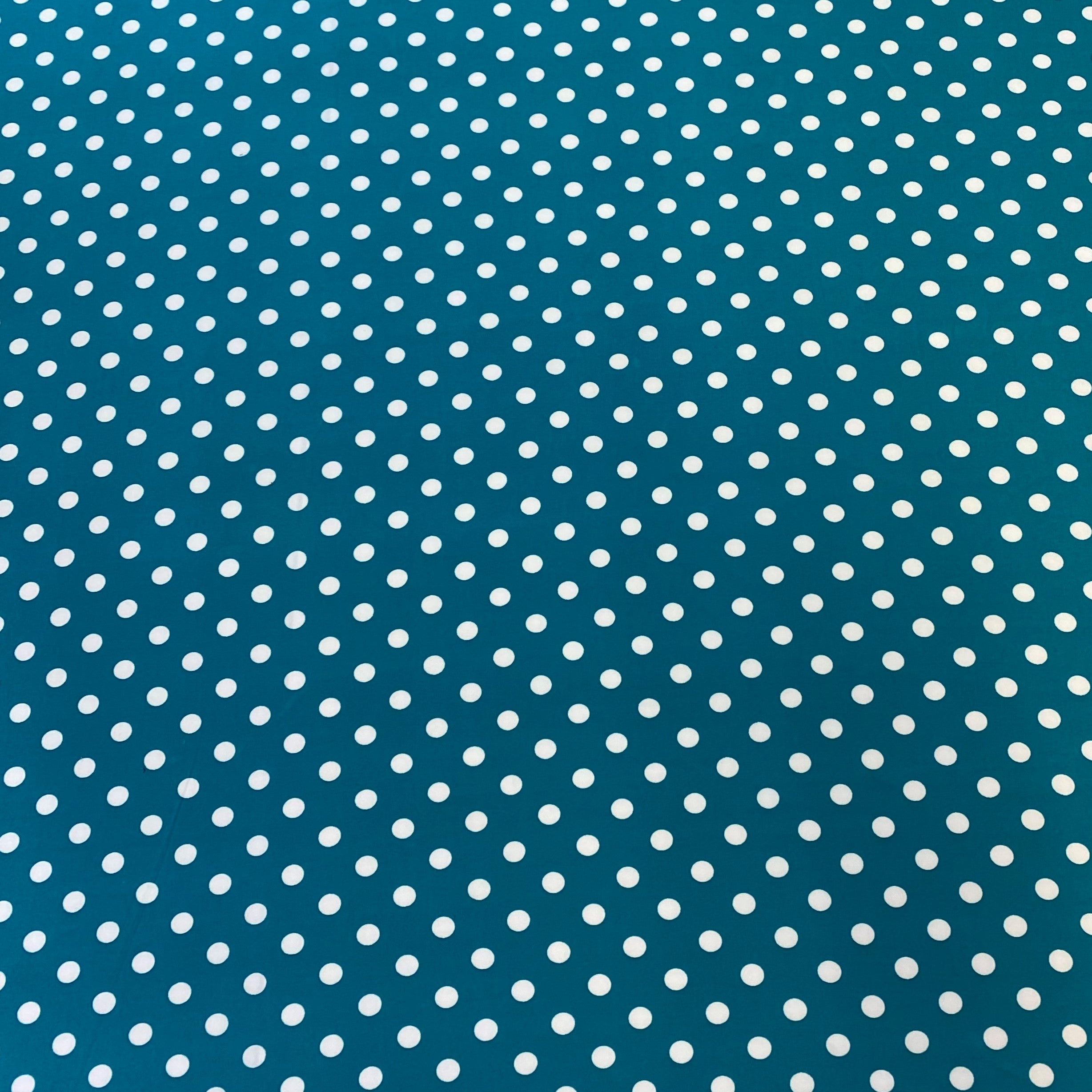 Single Brushed Poly - Mermaid Dots
