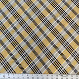 Single Brushed Poly - Plaid in Butterscotch
