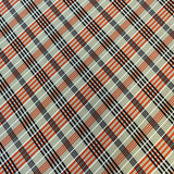 Single Brushed Poly - Plaid in Apricot