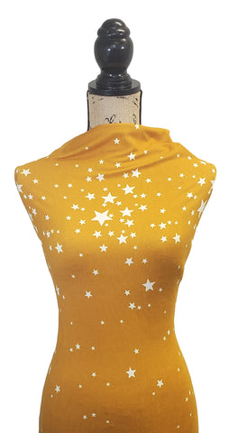 Double Brushed Poly Stars - Mustard