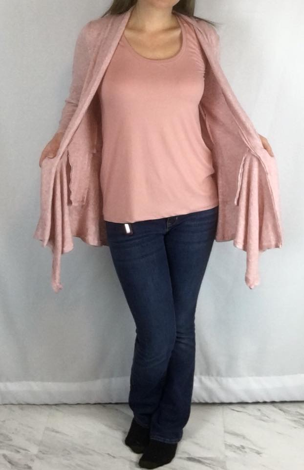 Heathered Sweater Knit - Rose