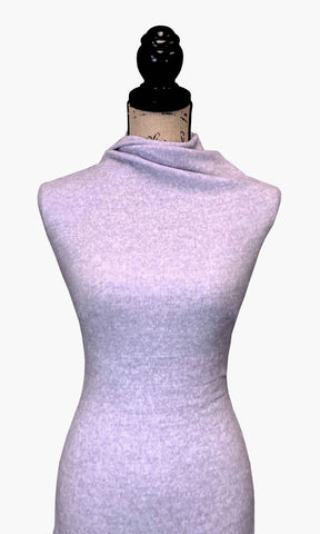 Brushed Sweater Knit - Heather Lavender