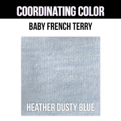Baby French Terry Solid - Heather Blush