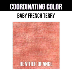 Baby French Terry Solid - Heather Red
