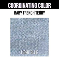 Baby French Terry Solid - Heather Dusty Blue