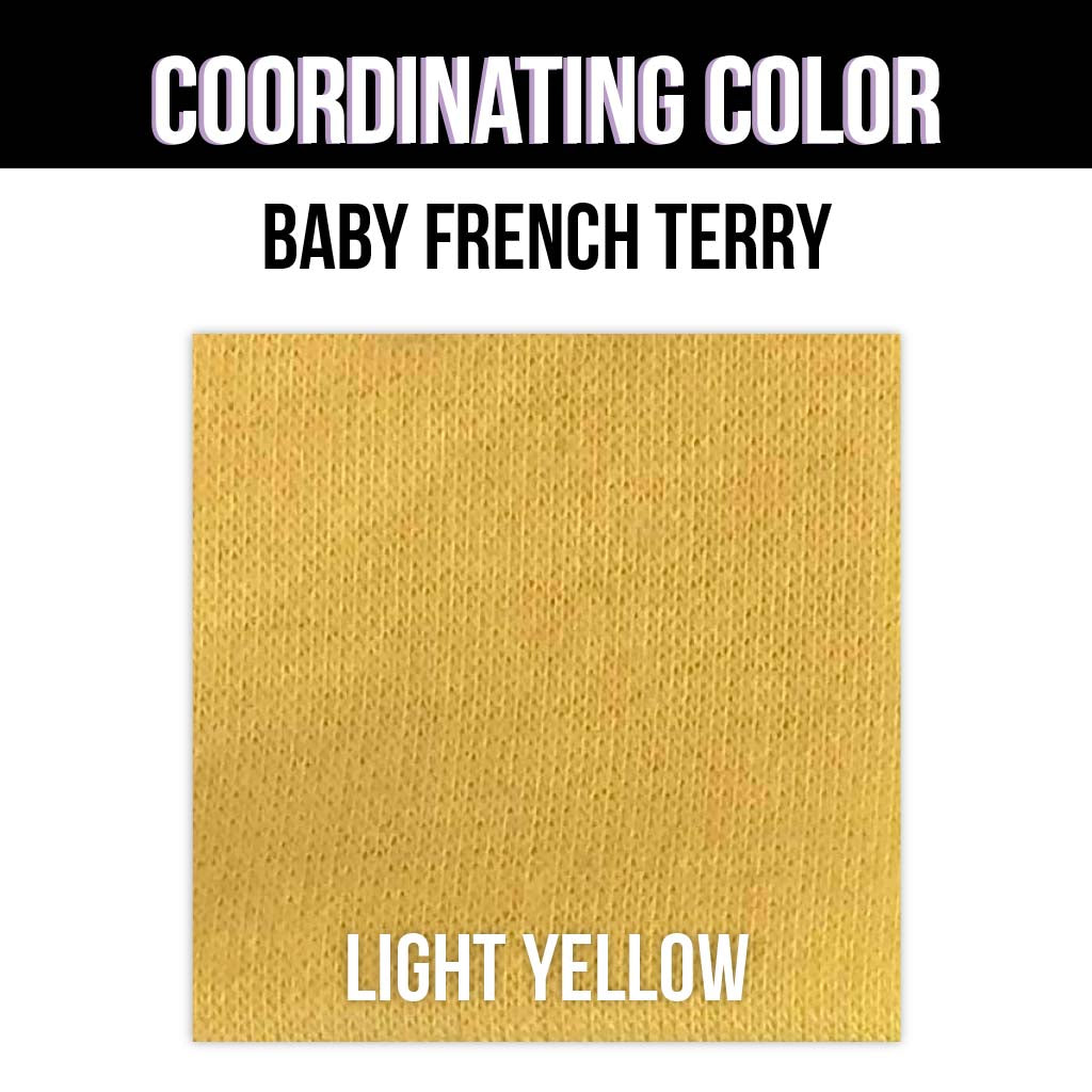Baby French Terry Solid - Heather Yellow
