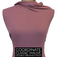 Brushed Thermal Waffle Knit - Classic Mauve Solid