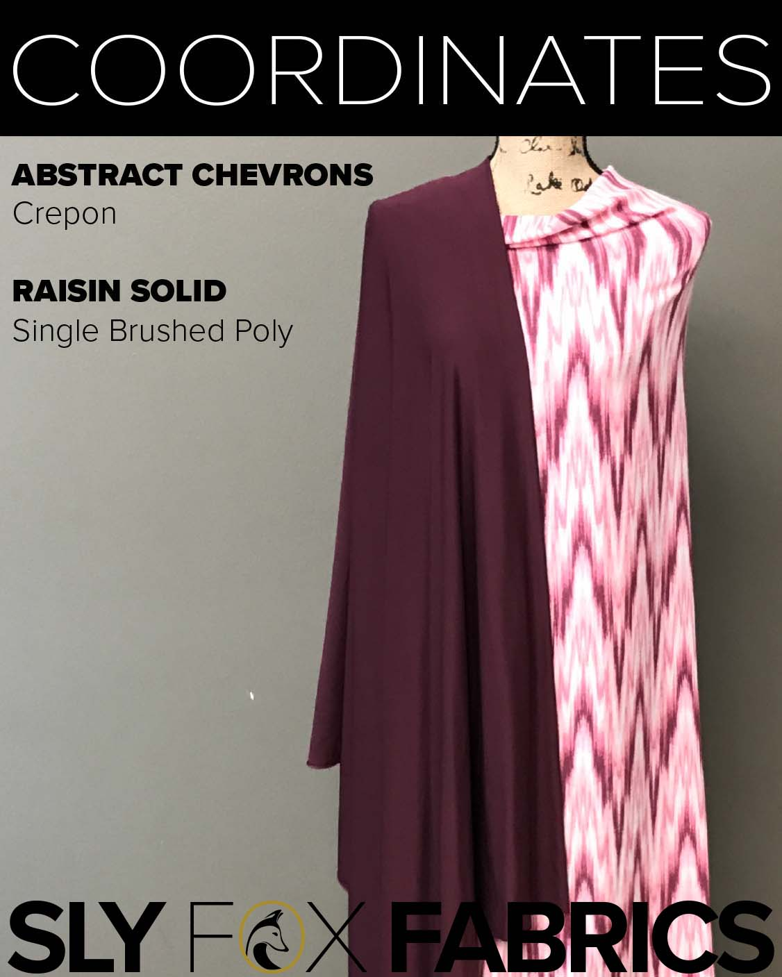 Crepon - Abstract Chevrons in Rose