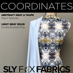 Rayon Spandex - Abstract in Gray & Taupe