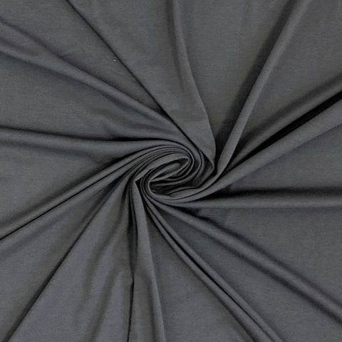 Cotton Spandex Solid - Dark Gray