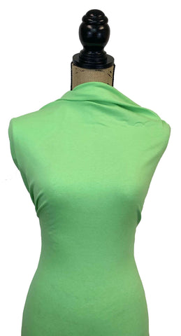 Cotton Spandex Solid - Green Apple