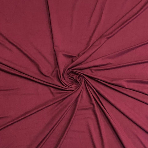Double Brushed Poly Solid - Cabernet