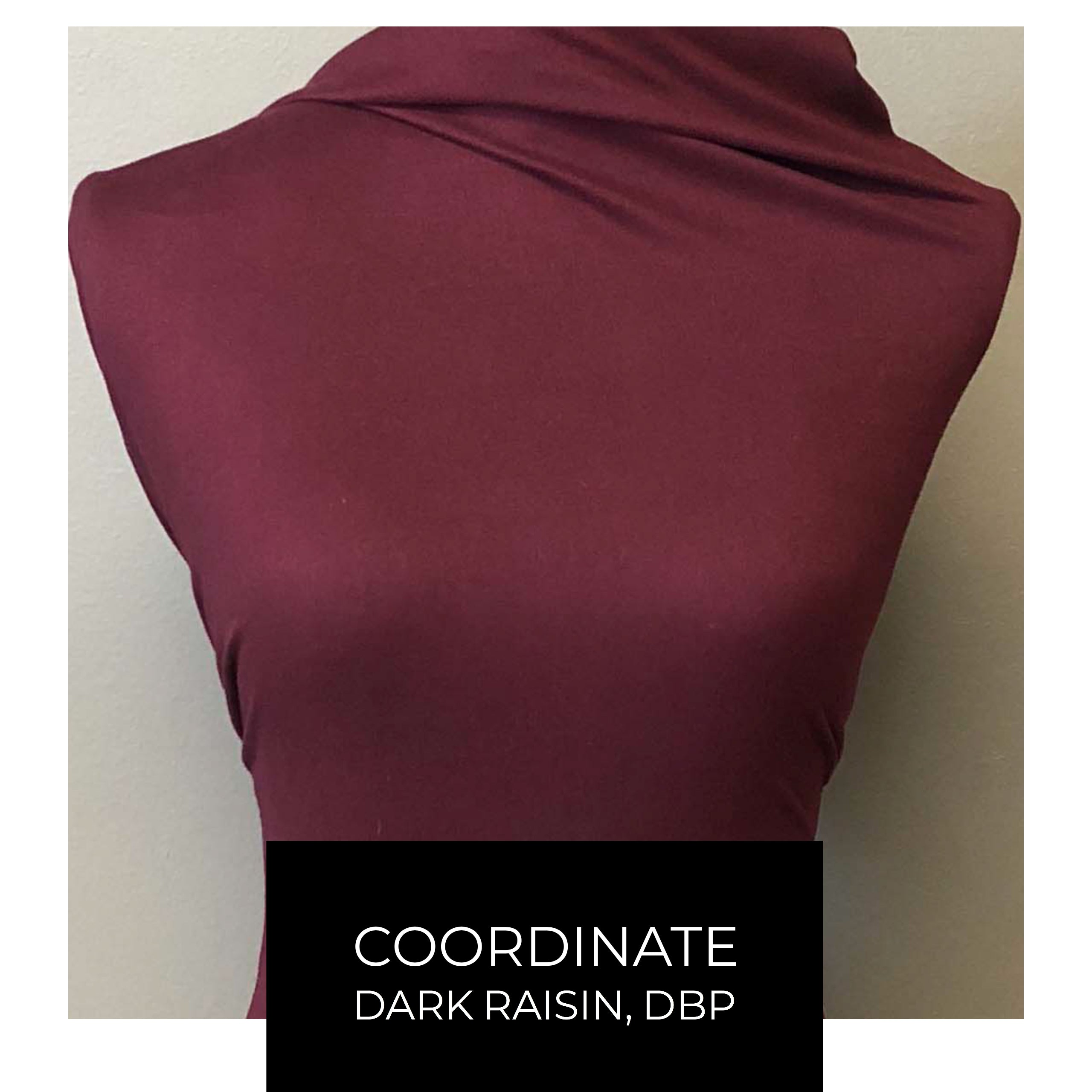 Double Brushed Poly - Esprit in Burgundy