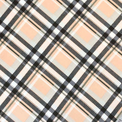 Double Brushed Poly Plaid - Peach