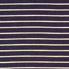 Double Brushed Poly Stripes - Navy
